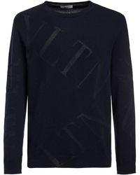 Valentino - ウールブレンドインターシャニットセーター - Lyst