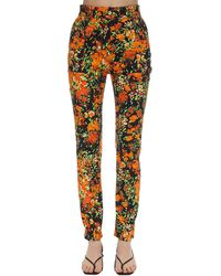 Atlein Floral Print Stretch Twill Skinny Trousers - Multicolour