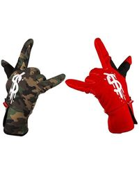 Sprayground Bicolor Dollar Gloves - Rot