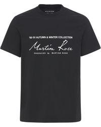 Martine Rose Season コットンジャージーtシャツ - ブラック