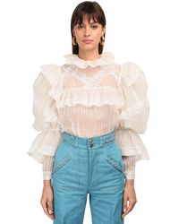 Marc Jacobs Рубашка Из Шелковой Органзы - Белый
