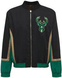 Just Don Milwaukee Bucks リバーシブルボンバージャケット - グリーン