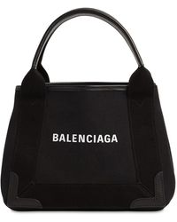 Balenciaga - Navy Cabas キャンバスバッグ - Lyst