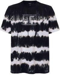 DIESEL - タイダイコットンジャージーtシャツ - Lyst