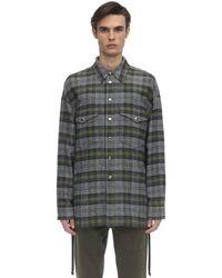 Faith Connexion コットンツイードシャツジャケット - グレー