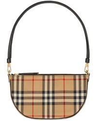 Burberry Olympia Coated Canvas Shoulder Bag - Multicolor