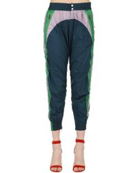 Isabel Marant Raruso Color Block Nylon Track Pants - Blue
