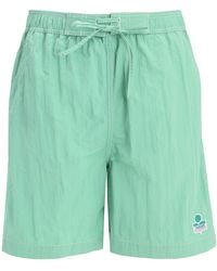 Isabel Marant Tech Swim Shorts W/ Logo Patch - Green