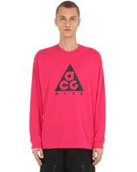 Nike - M Nrg Acg Long-sleeve Logo T-shirt - Lyst