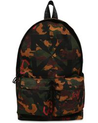Off-White c/o Virgil Abloh Print Camo Arrow Tech Canvas Backpack - Multicolor