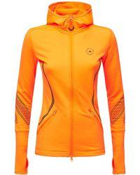 "adidas By Stella McCartney Fleece-hoodie ""asmc Tpa Mi C.r"" - Orange"