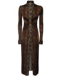 Versace - Платье Из Джерси С Принтом - Lyst