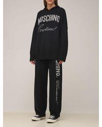 Moschino フーデッドウールニットセーター - ブラック