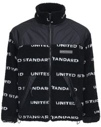United Standard Veste En Polaire Technique Imprimé Logo - Noir