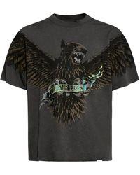 Represent Oversized T-shirt Mit Terrier Eagle-druck - Grau