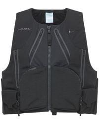 """Nike Gilet """"nocta"""" In Nylon Ripstop - Nero"""