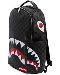 Sprayground - Black Chequered Shark In Paris Backpack - Lyst
