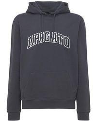 Axel Arigato Sudadera College De Algodón Orgánico Con Logo - Negro