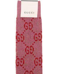 Gucci Lange Socken Aus Baumwollmischjacquard - Mehrfarbig