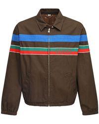 Gucci Куртка На Молнии С Логотипом - Коричневый