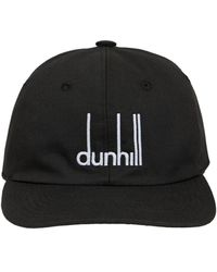 Dunhill Logo Signature Cotton Cap - Black
