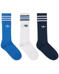 adidas Originals 3er-pack Baumwollsocken Mit Logo - Blau
