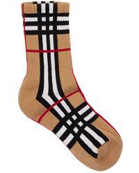 Burberry Socken Aus Baumwollmischung - Mehrfarbig
