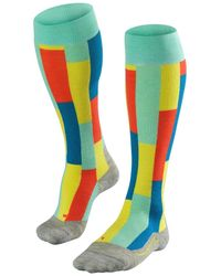 Falke Sk4 Brick Acrylic Blend Ski Socks - Mehrfarbig