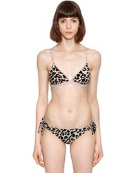 Love Stories - Uma Leopard Mauve Triangle Bikini Top - Lyst