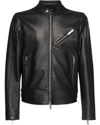 DSquared² Байкерская Куртка Из Кожи - Черный