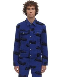Alife Lee X Print Cotton Corduroy Jacket - Blau