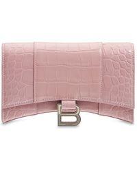 Balenciaga Кожаная Сумка С Цепочкой - Розовый