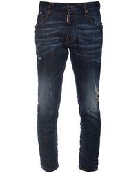 DSquared² Jeans Skater Desgastados De Denim De Algodón - Azul