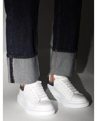 Alexander McQueen 40mm Hohe Sneakers Aus Leder Und Glitzer-pvc - Weiß