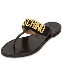 Moschino Sandali In Pelle 15mm - Nero