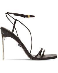 Versace Sandales En Cuir 110 Mm - Noir