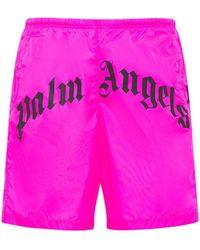 Palm Angels Нейлоновые Шорты Для Плавания - Розовый
