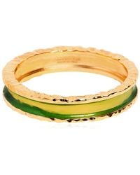DSquared² - Gold Plated Cuff Bracelet - Lyst