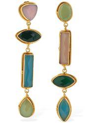 Sylvia Toledano Pendant Clip-on Earrings W/stones - Mehrfarbig