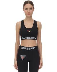 Burberry ジャージースポーツブラ - ブラック