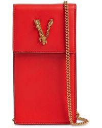 Versace - Кожаный Чехол Для Телефона Virtus - Lyst