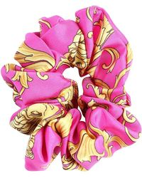 Versace Haarband Aus Seide Mit Druck - Mehrfarbig