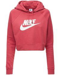 Nike コットンブレンドフリースフーディー - ピンク