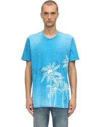 DOMREBEL T-shirt Aus Baumwolljersey Mit Druck - Blau