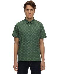 A.P.C. コットン&シルクシャツ - グリーン