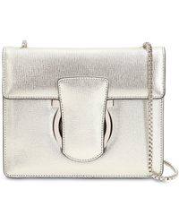 Ferragamo - Thalia Metallic Leather Shoulder Bag - Lyst