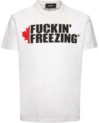DSquared² Freezing コットンジャージーtシャツ - ホワイト