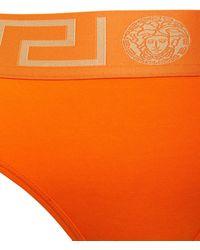 Versace Slip Aus Stretch-baumwolljersey - Orange