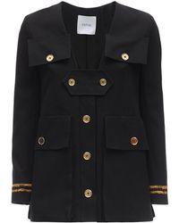 Patou Cotton Panama Jacket - Black