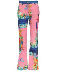 Versace Джинсы Из Деним С Принтом - Многоцветный